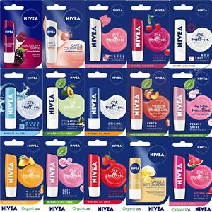 NIVEA LIP CARE BALM All Types 24-hours Melt-In Series Original Pocket Sized 4.8g