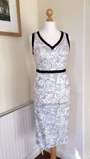 BNWT Beautiful TU GOK Shift Dress & Control Slip (detachable) sz12 White & Black