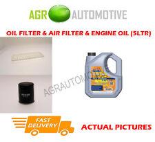 PETROL OIL AIR FILTER KIT + LL 5W30 OIL FOR TOYOTA IQ 1.0 68 BHP 2008-
