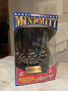 1991 Rawlings Ken Griffey Jr HOF Mini Mitt New In Box w/ Baseball Card