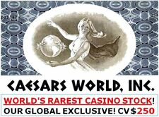 RARE CAESARS WORLD CASINO STOCK in up to 3 COLORS! FREE SANDS CASINO w 3 DIFF CW
