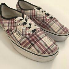 Vans Lo Pro Plaid Shoes Casual Skate Shoes Womens 7.5 Mens 6