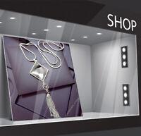 Damen Halskette lang Mode Schmuck Kette Collier Silber 75cm Geschenk Luxus M25