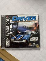 Case Crack Driver (Sony PlayStation 1 1999) PS1 Complete game Black Label Tested