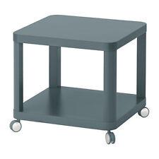 Ikea tingby Lado Tabla De Té Café con estante extra sobre ruedas, Turquesa, 50x50 Cm