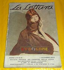 LA LETTURA 1920 n. 12 Alfredo Panzini, Ettore Romagnoli, Cesare Levi, M. Moretti