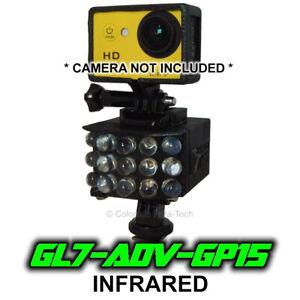 Ghost Light ™ GL7-ADV-GP15 IR LED Light for Full Spectrum Gopro style Cameras