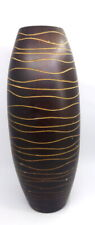 "Vintage Wooden Blown Winter Vase Cyan Design Home Decor 11 "" tall Brown"