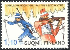 Finland 1981 Biathlon Championships/Sports/Rifle Shooting/Skiing 1v (b735t)