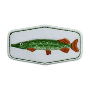 PIKE fish - patch for a Pike Hunter Embroidered PATCH/BADGE