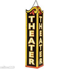 "VERTICAL VINTAGE HOME THEATER DECOR  ""THEATER METAL ART""  ENTERTAINMENT ROOM"