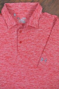 Under Armour Performance Polo Shirt Red Marble Men's Large Tall LT