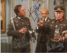 'Allo 'Allo Photo Signed By Ken Morley, Kim Hartman and Guy Siner - C349