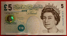 UNCIRCULATED / NM £5 Note - Chris Salmon - LK39 287751 - Linen Fiver
