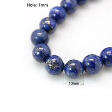 Lapis Lazuli Round Beads 10mm Blue 15+ Pcs Dyed Gemstones DIY Jewellery Making