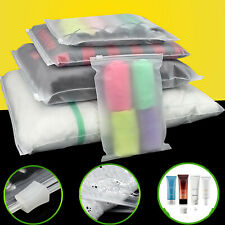 Clear Matte Plastic Packaging Zipper Bags Reclosable for Clothes Underwear sock