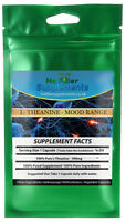 Organic L Theanine Vegetable Capsules 100% Pure No Fillers 400mg Double Strength