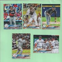 2018 Topps Factory set Sparkle Foilboard parallel #45 Giancarlo Stanton #4/190