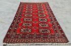 Hand knotted Vintage Pakistan Bokhara Jhaldar Wool Area Rug 3 x 2 Ft (11286 KBN)