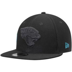 Jacksonville Jaguars Hat New Era 9Fifty Snapback Black Blackout Cap Color Rush