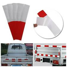 New listing 10X Truck Safety Tape Warning Night Reflective Strip Red White Sticker Decal Usa