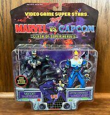 Venom & Captain Commando Vintage Marvel vs Capcom Figures New 1999 Toybiz 90s