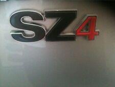 NEW Genuine Suzuki SZ4 Tailgate Boot BADGE Chrome Red EMBLEM BADGE-SZ4