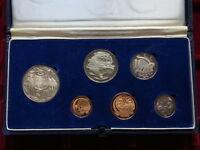 Australia.  1966 PROOF SET - Dark Blue Case..  6 Coins
