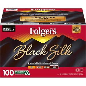 Folgers Black Silk Dark Roast Coffee K-Cups 100 Ct GREAT VALUE & SERVICE!!