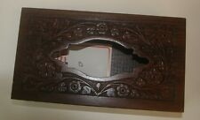 Handmade Wooden Tissue box Holder Rosewood Carved Timber Rectangle Shape #14