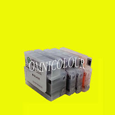 4 refillable compatible cartridge w/ ink no chip for HP 950 HP950 951 8100 8600
