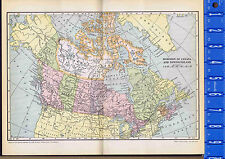 Dominion of CANADA & NEWFOUNDLAND Vintage COLOR MAP 1935
