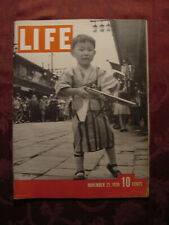 LIFE magazine November 21 1938 JAPAN at WAR Screwy California Harold Ickes