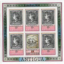Antigua London 1980 Overprint 25c MNH Sheetlet