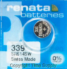 2Pc 339 Renata Watch Batteries SR614SW FREE SHIP 0% MERCURY