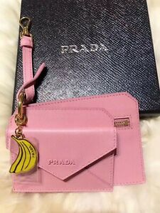 Brand New In Box Authentic Prada  Saffiano Leather Pink Card Holder