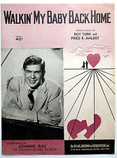 Johnnie Ray Partition de Musique Walkin' My Baby Dos Home Traditionnel Pop Vocal