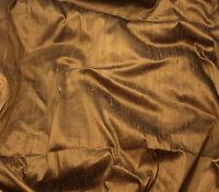 "Silk DUPIONI Fabric COPPER fat 1/4 18""x27"" remnant"
