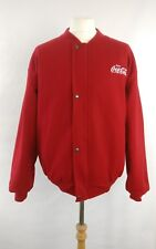 Vintage Varsity Red Coke Jacket DSL Size XL