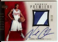 Lionel Chalmers 2005-06 UD Trilogy Crystal Rookie Patch/Auto Clippers #123 06/10