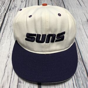 Vintage Phoenix Suns Fitted Hat Pro Model Pro Line 6 7/8 Big Logo Made In USA