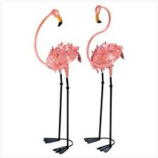 "YARD GARDEN DECOR S/2 FLAMBOYANT FLAMINGO GARDEN STAKES 41"" HIGH"
