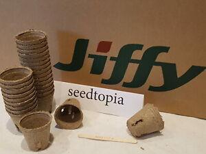 Jiffy Pots 5.5cm Plat Pots Round with slits Biodegradeable Compostable P119