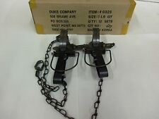2 Duke # 1 Long Spring W/Guard Traps Foothold Trap Muskrat Trapping 0325