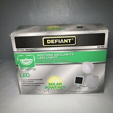 Defiant Solar Powered White Motion Outdoor Integrated LED Security Light - 180