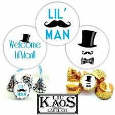 108 Baby Boy Lil' Man Shower Stickers Labels Candy Kisses Favors Candy Tie It's