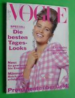 Vogue Germany Februar 1991 February Daniela Pestova Estelle Lefebure Carla Bruni