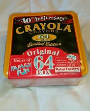 Crayola Crayons 40th Anniversary 64 Box Tin Limited Edition With Print Factory