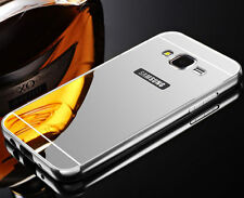 Luxury Aluminum Metal Mirror Case PC Back Cover Skin For Samsung Galaxy Phone