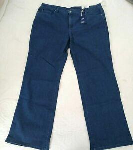 Charter Club Womens Bootcut Jeans Blue Denim Tummy Control Stretch 20W Plus